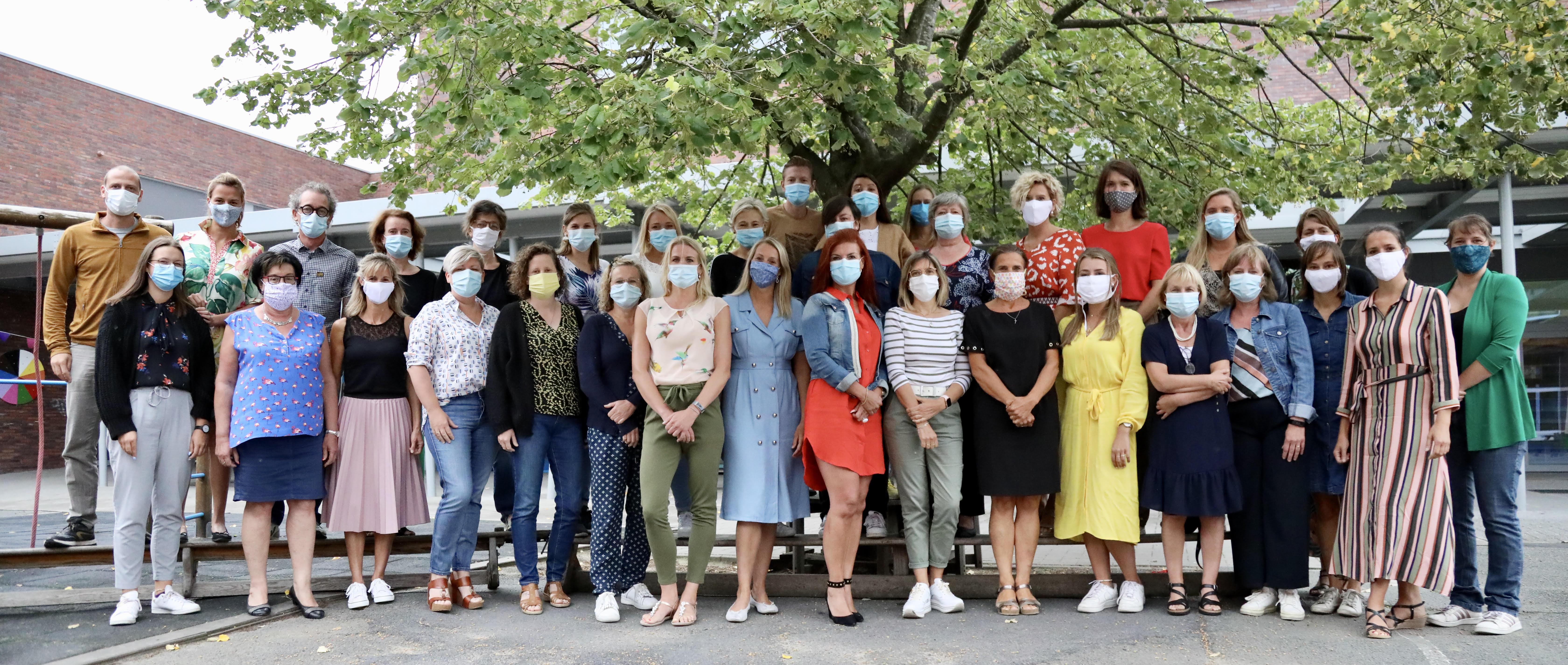 Het enthousiaste team van OLV Ten Bos - schooljaar 2020-2021